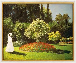 """Bild """"Dame im Garten"""" (1867), gerahmt"""