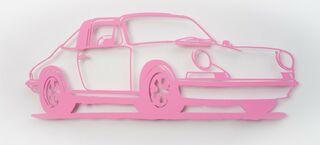 "Wandobjekt ""Porsche 911 Targa (rosa)"" (2021) (Unikat)"