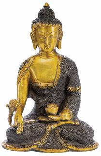 """Messingskulptur """"Medizinbuddha"""""""