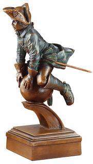 "Skulptur ""Der Ritt auf der Kanonenkugel"", Kunstguss"