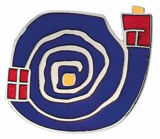 "Miniaturobjekt ""Spirale blau"""