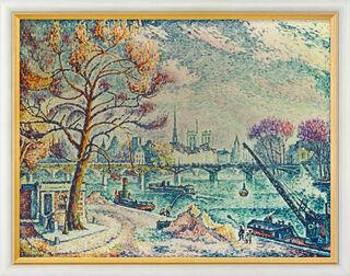 """Bild """"Paris, le Pont des Arts"""" (1925), gerahmt"""