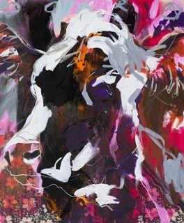 "Bild ""Abstract Cow"" (2021) (Unikat)"