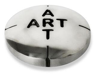 """Skulptur """"Pill for Art (Chrom)"""", Bronze"""