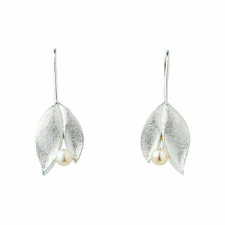 """Ohrhänger """"Silver Leaf"""" mit Perlen"""