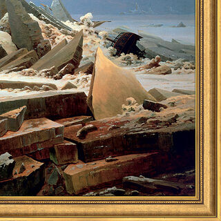 "Bild ""Das Eismeer"" (1824), gerahmt"