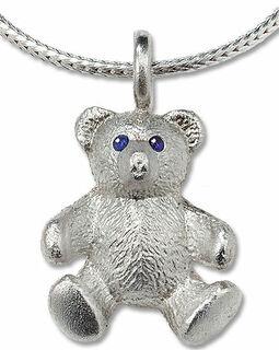 """Teddy-Collier """"Mein bester Freund"""", Version Silber"""