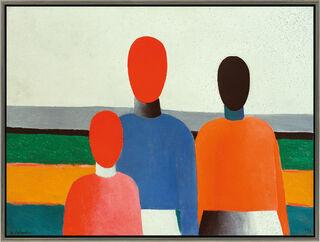 """Bild """"Drei weibliche Figuren"""" (1928/32), gerahmt"""