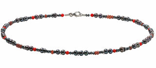 """Collier """"Red and Black"""""""