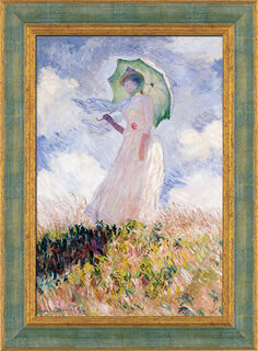 """Bild """"Frau mit Sonnenschirm"""" (1886), gerahmt"""