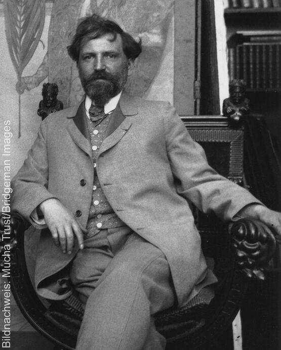 Porträt des Künstlers Alphonse Mucha