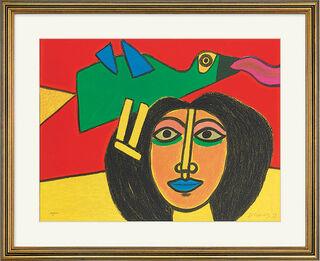 """Bild """"Visage à l'Oiseau"""" (1999), gerahmt"""