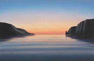 """Bild """"Abendliche Bucht IV"""", auf Keilrahmen"""