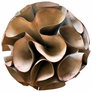 "Skulptur ""Seed - Mother of Pearl"" (2019) (Original / Unikat), Kupfer pigmentiert"