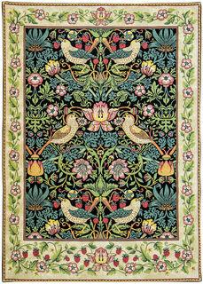 """Wandteppich """"Strawberry Thief"""" - nach William Morris"""
