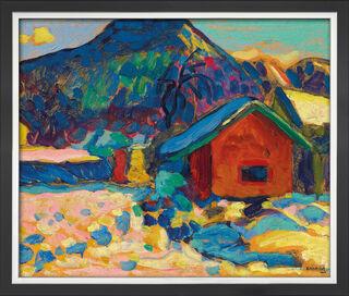 "Bild ""Winterstudie mit Berg"" (1908), gerahmt"
