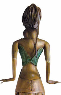 """Skulptur """"Tänzerin im Blumenkleid"""", Bronze"""