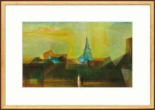 """Bild """"Nermsdorf (I)"""" (1925), gerahmt"""