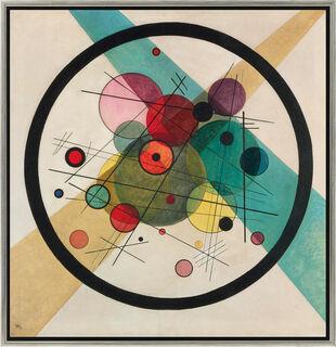 """Bild """"Kreise in einem Kreis"""" (1923), gerahmt"""