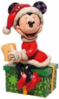 "Skulptur ""Minnie Mouse mit heißer Schokolade"", Kunstguss"