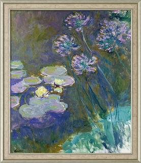 """Bild """"Gelbe Seerosen und Agapanthus"""" (1914-1917), gerahmt"""