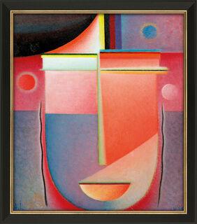 """Bild """"Abstrakter Kopf: Inneres Schauen - Rosiges Licht"""" (1926), gerahmt"""