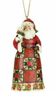 """Weihnachts-Anhänger """"Weihnachtsmann mit Hund"""""""