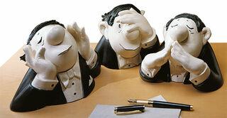 "Skulpturen ""Die drei Charakterköpfe"", Version in Kunstguss"