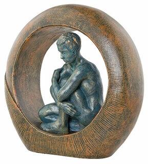 "Skulptur ""Saturn"", Kunstguss Steinoptik"