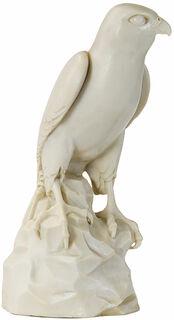 "Skulptur ""Falke"", Version in Kunstmarmor"
