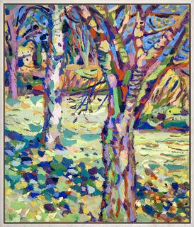 "Bild ""Bäume im Garten"" (1984) (Unikat)"