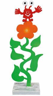 """Gartenskulptur """"Monster auf der Blume"""""""