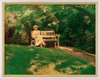 """Bild """"Die Gartenbank"""" (1916), gerahmt"""