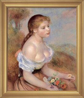"""Bild """"Mädchen mit Margeriten"""" (1889), gerahmt"""