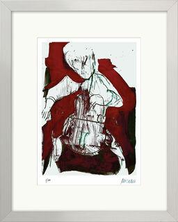 """Bild """"Cellospieler"""" (2015), gerahmt"""
