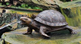 "Gartenskulptur / Wasserspeier ""Schildkröte"", Bronze"
