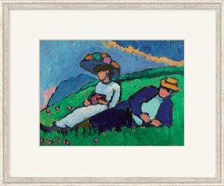 """Bild """"Jawlensky und Werefkin"""" (1909), gerahmt"""