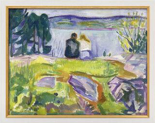 """Bild """"Frühling (Liebespaar am Ufer)"""" (1911-13), gerahmt"""