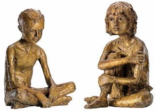 """2 Skulpturen """"Paul"""" und """"Martha"""" im Set, Bronze"""