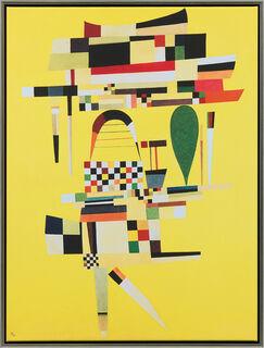 "Bild ""Die gelbe Leinwand"" (1938), gerahmt"
