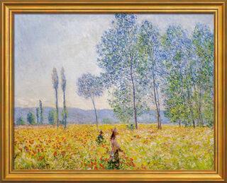 """Bild """"Unter den Pappeln"""" (1887), gerahmt"""