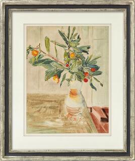 """Bild """"Zweige in einer Keramikvase"""" (1937) (Unikat)"""