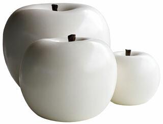 "Keramikobjekt ""Apfel weiß"" (Große Version)"