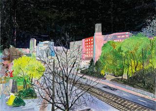 """Bild """"Herbst vorm Balkon"""" (2013), auf Keilrahmen"""