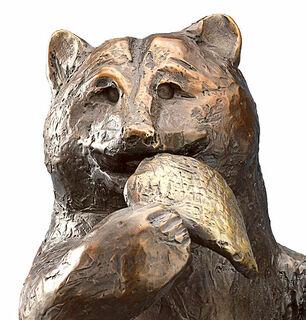 """Skulptur """"Honigbär"""", Bronze"""