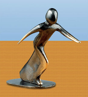 "Skulptur ""Startschuss"", Bronze"