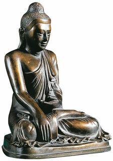 "Skulptur ""Gautama Buddha"", Kunstbronze"