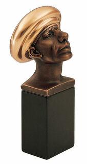 """Skulptur """"Adam wohlbehütet"""", Bronze auf Marmorsockel"""
