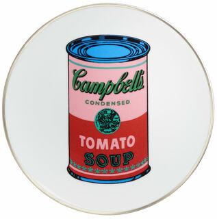 "Porzellanteller ""Coloured Campbells Soup Can"" (Pink/Rot)"