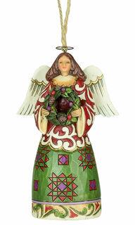 """Weihnachts-Anhänger """"Engel mit Kranz"""""""